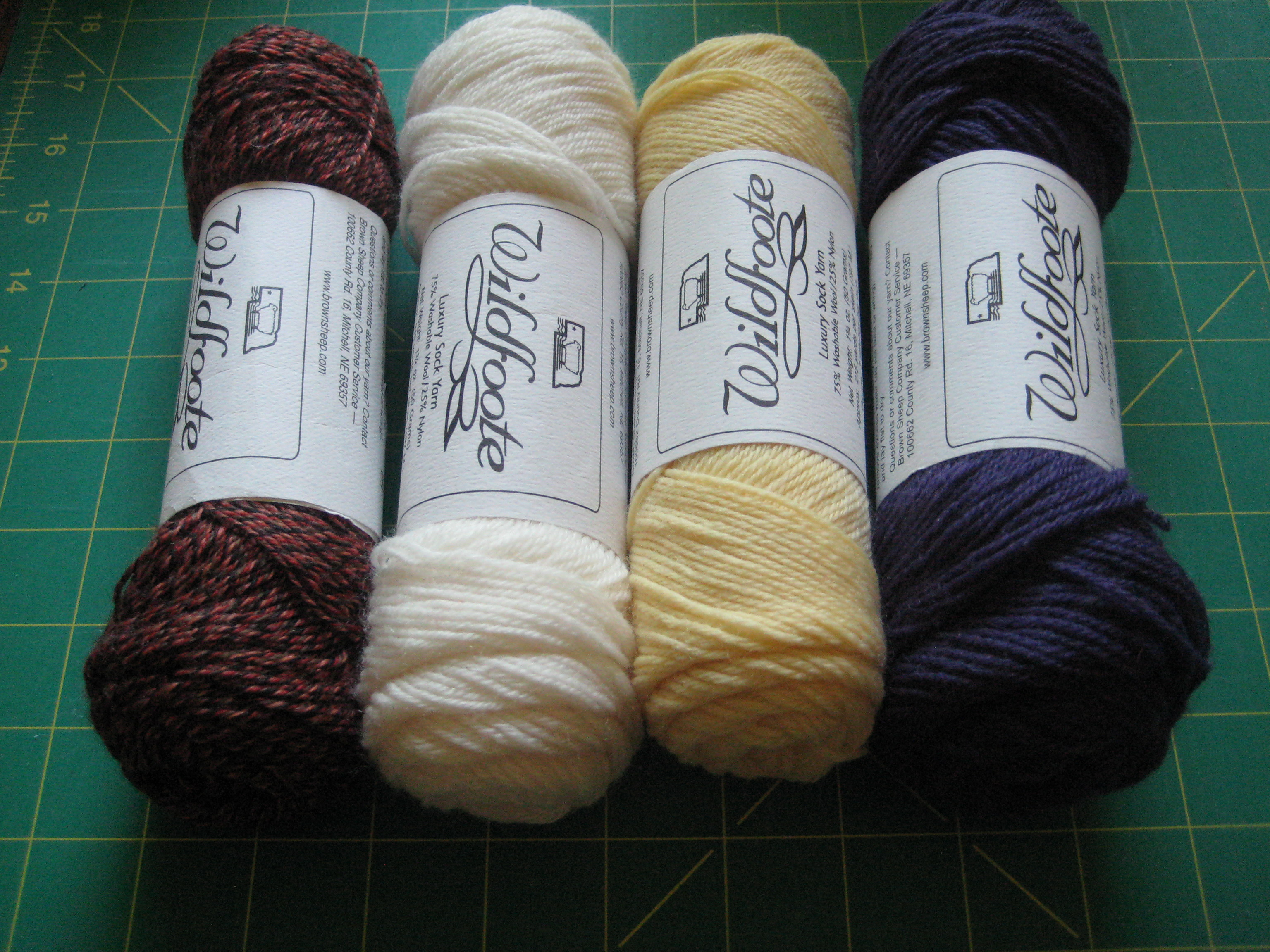 Wildfoote Fingering Yarn by Brown Sheep- Tan to Purple